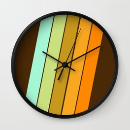 Fer Shure - retro throwback minimal 70s style decor art minimalist 1970's vibes Wall Clock
