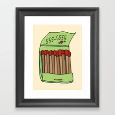 Matchbook Love Framed Art Print