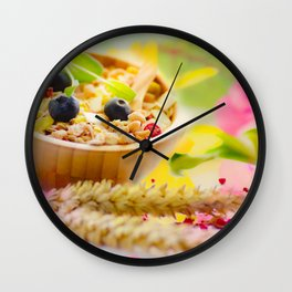 #Food #photography and #spring #colors Wall Clock