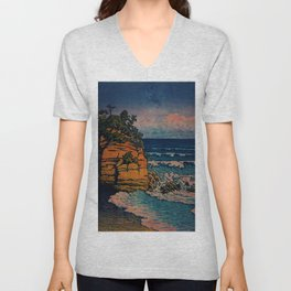 Bathing in Sunset Unisex V-Neck
