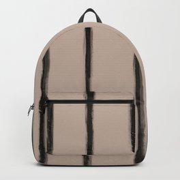Skinny Strokes Gapped Vertical Black on Nude Backpack