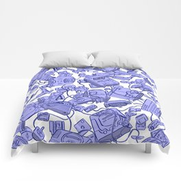 Retro Gamer - Blue Comforters