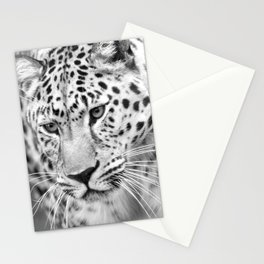 Amur leopard Rusher Stationery Cards