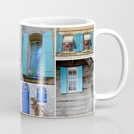 Blue Shutters at Work Coffee Mug