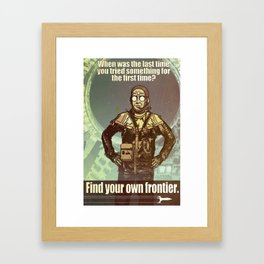 FIND YOUR FRONTIER Framed Art Print