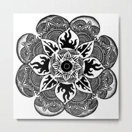 Les Coeurs Mandala Metal Print