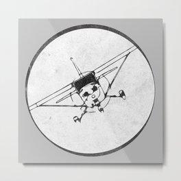 Cessna 172 Skyhawk (front) - 30° bank Metal Print
