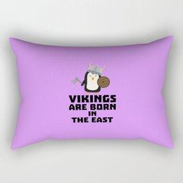 Vikings are born in the East T-Shirt De9u6 Rectangular Pillow
