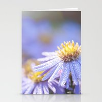 biology Stationery Cards featuring Blue Aster in LOVE I by UtArt
