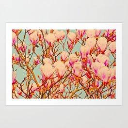 Magnolia of Love Art Print