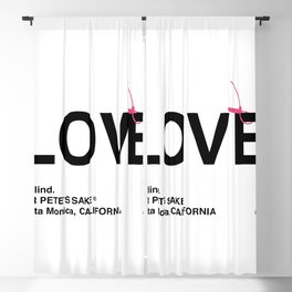 """LOVE"" Blackout Curtain"