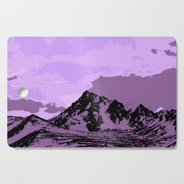 Chugach Mountains - EggPlant Pop Art Cutting Board