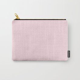 Modern blush pink solid color background design Carry-All Pouch