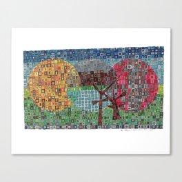 Your Backyard in Bricks Canvas Print