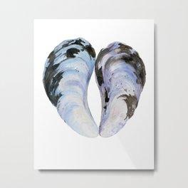 Heart Mussel Metal Print