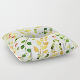 Branches and Leaves 2 Floor Pillow