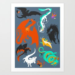 A Flight with Dragons Kunstdrucke
