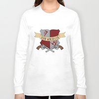 dean winchester Long Sleeve T-shirts featuring Dean Winchester Crest by Andi Robinson