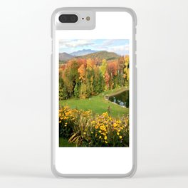 Vermont Foliage Watercolor Clear iPhone Case