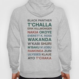 Black Panther Character Names Hoody