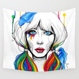 Zooey - Twisted Celebrity Watercolor Wall Tapestry