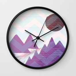 Chevron Mountains Wall Clock