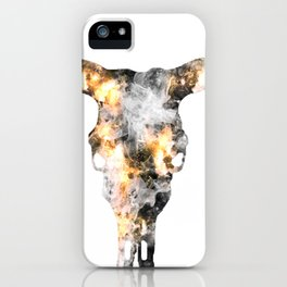 Long Horn of smoke and fire iPhone Case