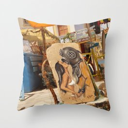 Submariners lucky day Throw Pillow