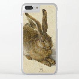Albrecht Durer -  Hare (1502) Clear iPhone Case