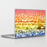 glitter Laptop & iPad Skins featuring Rainbow Glitter Sparkles by Whimsy Romance & Fun
