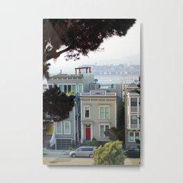 SF Row Houses Metal Print