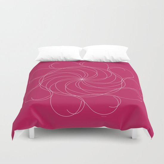 Ornament – Turning Flower Duvet Cover