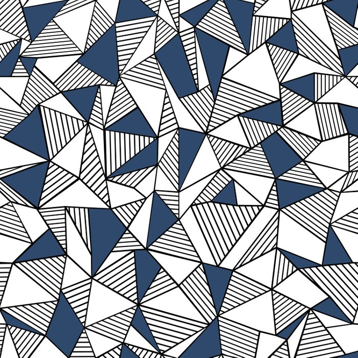 Abstraction Lines with Navy Blocks Comforters