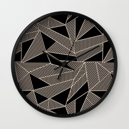 Geometric Abstract Origami Inspired Pattern Wall Clock