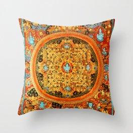 Buddhist Mandala Ashta Bhairava 1 Throw Pillow