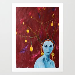Hanukkah antlers Art Print