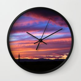 South Santa Fe Sunset Wall Clock