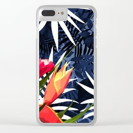 Bold Tropical Paradise Design Clear iPhone Case