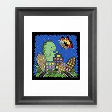 Monstrous Friendship Framed Art Print