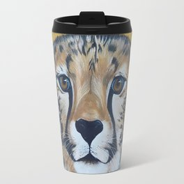Cheetas, acrylic on canvas Travel Mug