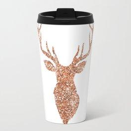 Sparkling reindeer blush gold Travel Mug