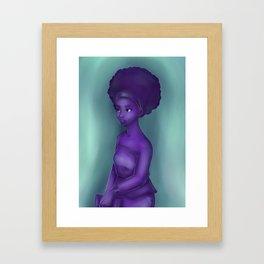 Purple and Teal Framed Art Print