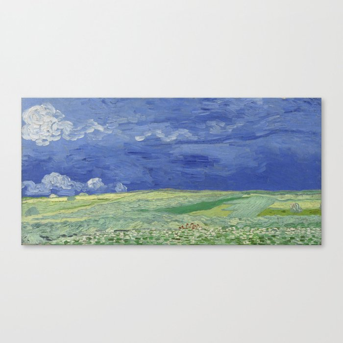 Wheatfield under Thunderclouds Canvas Print