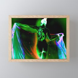 Anonymous Inked Nude 1 (Variation) - Green Sorceress Framed Mini Art Print