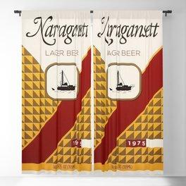 Vintage 1960's & 1970's Style Narragansett Lager Beer Advertising Poster Blackout Curtain