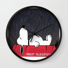 Keep Sleepin' Wall Clock