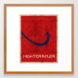 Minimalist Nightcrawler Framed Art Print