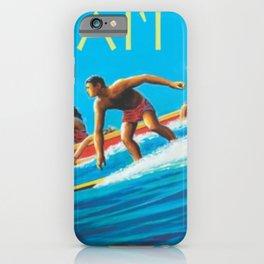 Hawaiian Surfers, Honolulu, Hawaii Vintage Poster iPhone Case