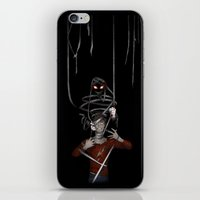 shadow iPhone & iPod Skins featuring Shadow by Yiji