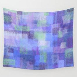 Purple Blocks Wall Tapestry